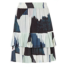 Buy BZR Mally Abstract Print Skirt, Blue Online at johnlewis.com