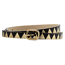 Buy Des Petits Hauts Mimi Triangles Belt, Black Online at johnlewis.com