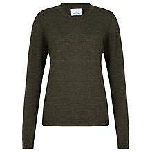 Buy Samsoe & Samsoe Sanella Merino Wool Jumper, Forest Online at johnlewis.com