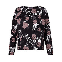 Buy Minimum Sardia Floral Print Sweatshirt, Fawn Online at johnlewis.com