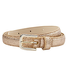 Buy Des Petits Hauts Mischa Sparkle Belt, Gold Online at johnlewis.com