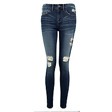 Buy Waven Freya Low Rise Skinny Jeans, Trash Blue Online at johnlewis.com