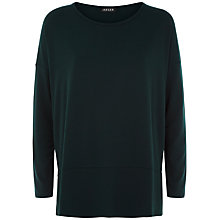 Buy Jaeger Heavy Jersey Top, Forest Green Online at johnlewis.com