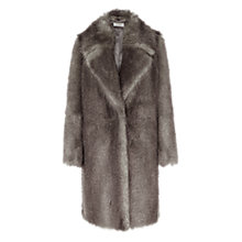 Buy Hobbs Valentia Faux Fur Coat, Natural Online at johnlewis.com