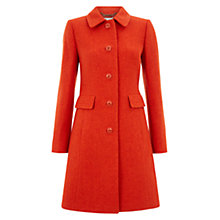 Buy Hobbs Wool Gweneth Coat, Coral Online at johnlewis.com