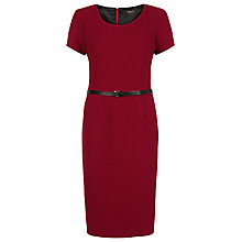 Buy Precis Petite Ponte Dress, Red Online at johnlewis.com