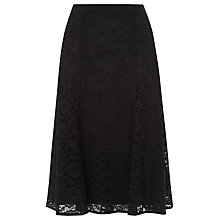 Buy Kaliko Flippy Lace Belted Skirt, Black Online at johnlewis.com