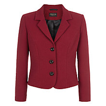 Buy Precis Petite Textured Ponte Jacket, Bright Red Online at johnlewis.com