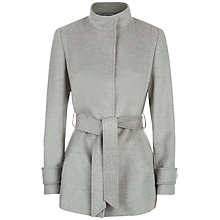 Buy Jaeger Wool Funnel Neck Coat, Light Grey Online at johnlewis.com