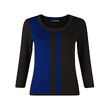 Buy Precis Petite Colour Block Jumper, Blue/Black Online at johnlewis.com