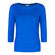 Buy Planet Three Quarter Length Sleeve Jumper, Mid Blue Online at johnlewis.com