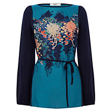 Buy Oasis Kyoto Print Woven Tunic, Navy Online at johnlewis.com