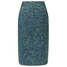 Buy Precis Petite Bouclé Skirt, Teal Online at johnlewis.com