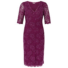 Buy Kaliko Bead Embellished Dress, Mid Pink Online at johnlewis.com