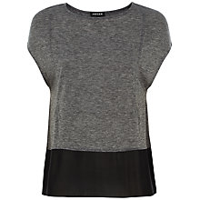 Buy Jaeger Wool Blend Jersey Top, Charcoal Online at johnlewis.com