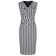 Buy Planet Spot Print Jersey Dress, Navy/Multi Online at johnlewis.com