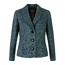 Buy Precis Petite Bouclé Jacket, Teal Online at johnlewis.com