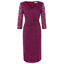 Buy Kaliko Twist Detail Lace Dress, Magenta Online at johnlewis.com