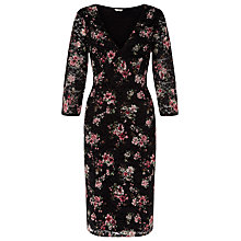 Buy Kaliko Printed Lace Beaded Dress, Multi Black Online at johnlewis.com