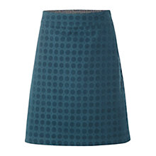 Buy White Stuff Daisy Velvet Spot Skirt, Teal Online at johnlewis.com