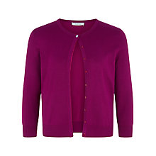 Buy Kaliko Diamante Trim Cardigan, Mid Pink Online at johnlewis.com