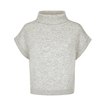 Buy Jaeger Cropped Jumper, Light Grey Melange Online at johnlewis.com