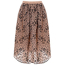 Buy True Decadence Embroidered Midi Skirt, Nude/Black Online at johnlewis.com