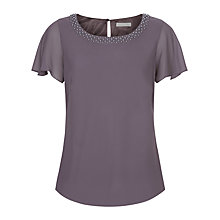 Buy Jacques Vert Embellished Blouse, Purple Online at johnlewis.com