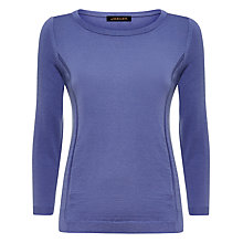 Buy Jaeger Gostwyck 3/4 Sleeved Jumper, Dusky Lilac Online at johnlewis.com