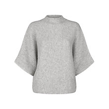 Buy Jaeger Double Faced Jumper, Light Grey Melange Online at johnlewis.com