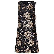 Buy True Decadence Sleeveless Shift Dress, Brown Online at johnlewis.com