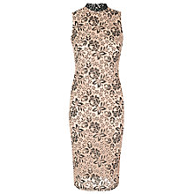 Buy True Decadence High Neck Bodycon Dress, Nude/Black Online at johnlewis.com