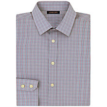Buy Jaeger Micro Check Shirt, Grey/Pink Online at johnlewis.com