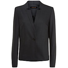 Buy Jaeger Tailored Tropical Wool Jacket, Charcoal Online at johnlewis.com