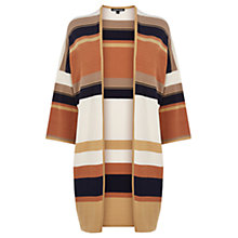 Buy Warehouse Yarn Stripe Kimono Cardigan, Multi Online at johnlewis.com