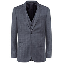 Buy Jaeger Prince of Wales Check Slim Fit Suit Jacket, Grey Online at johnlewis.com
