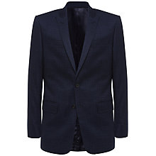 Buy Jaeger Wool Faded Check Suit Jacket, Navy Online at johnlewis.com