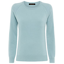 Buy Jaeger Cable Knit Cashmere Jumper, Slate Blue Online at johnlewis.com