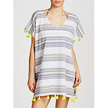Buy John Lewis St Ives Stripe Kaftan, White/Navy Online at johnlewis.com