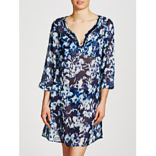 Buy John Lewis Inky Floral Kaftan, Blue Online at johnlewis.com