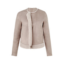 Buy Jigsaw Sheepskin Jacket, Oatmeal Online at johnlewis.com