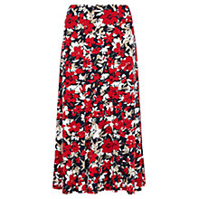 Buy Viyella Floral Print Jersey Skirt, Red Online at johnlewis.com