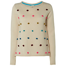 Buy White Stuff Wilderness Spot Jumper, Natural Online at johnlewis.com
