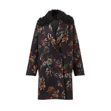 Buy Jigsaw Needle Punch Floral Coat, Multi Online at johnlewis.com