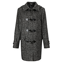 Buy Four Seasons Tweed Duffle Coat, Black/White Online at johnlewis.com