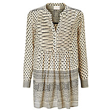 Buy East Farida Print Shirt, Ivory Online at johnlewis.com