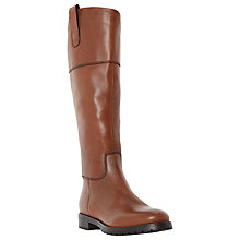 Buy Dune Timi Over Knee High Heeled Boots, Brown Leather Online at johnlewis.com