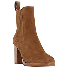 Buy Dune Parker Suede Block Heel Ankle Boots Online at johnlewis.com
