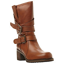 Buy Dune Rocking Buckle Detail Leather Calf Boot, Tan Leather Online at johnlewis.com