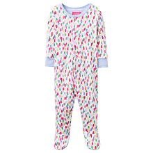 Buy Baby Joule Razmataz Bean Print Sleepsuit, White/Multi Online at johnlewis.com